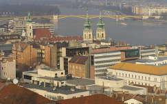 Budapest,a felújított Margit híd a Halászbástyáról