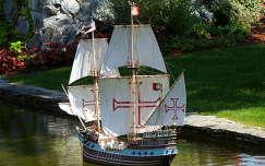 Hajómakett a Minimundusban. Ausztria- Klagenfurt
