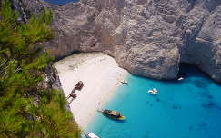 Görögország-Zakynthos: Navaggio-öböl