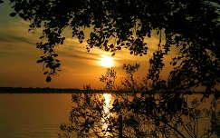 Naplemente a Tisza-tavon
