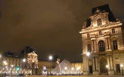 franciaország párizs tér éjszakai képek louvre