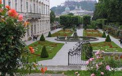 Salzburgi vár a Mirabell kastélyból,Salzburg,Ausztria