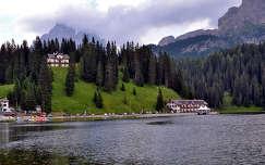 Missurina tó.Dél-Tirol.