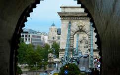 Budapest,Lánc-híd az alagútból,Fotó:Szolnoki Tibor