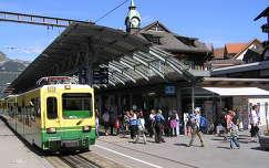 Wengen vasútállomás a Jungfraunál,Svájc