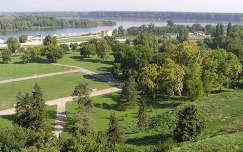 Kilátás a Nándorfehérvári várból a Dunára,Belgrád, Szerbia