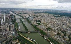 Párizs és a Szajna az Eiffel toronyból