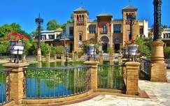 Sevilla, SPAIN , Mudejar Paviljoen Parque Maria Louise