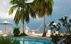 pálma medence nyár függőágy tenger