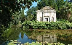 A Caserta kastély angol kertje, Olaszország