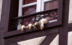 ablakdekoráció,Colmar,Franciaország