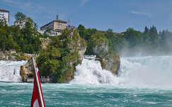 Schaffhausen-i Rajna vízesés Svájc