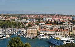 Zadar, kilátás a harangtoronyból, Horvátország