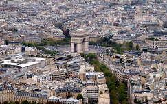 a Diadalív az Eiffel-toronyból,Párizs,Frnciaország