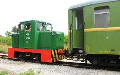 Keskeny nyomtávú kis vonat, mozdonycsere