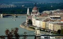 Parlament a budapesti Citadelláról