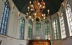 Zeeland, small  Kerk in het dorp Yerseke (Zuid Nederland)