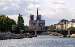 a Szajna és a Notre Dame,Párizs,Franciaország