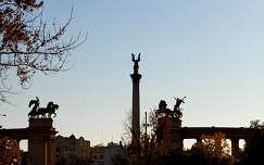 Budapest Hősök tere ősszel