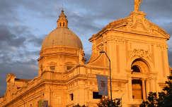 templom, Assisi, naplemente