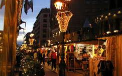 Budapest,Deák Ferenc utca karácsonyi hangulatban