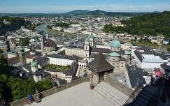 Salzburg látképe a várból, Ausztria