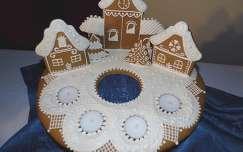 karácsonyi dekoráció mézeskalács ház édesség mézeskalács gyertya
