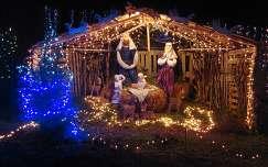 Karácsonyi fények, Dávod, Magyarország