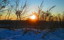 Az év első naplemente