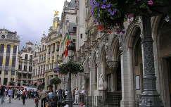 Brüsszeli főtér,jobboldalon a Városháza,Belgium