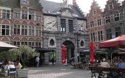 Gent,Halpiaci csarnok bejárata,Belgium