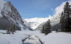 Lake Louise, Victoria Glacier, Banff Nemzeti Park, Kanada