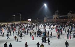 tél éjszakai képek téli sport