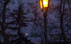 Lámpás és telihold az éjszakában