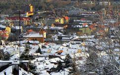 Pécsi panoráma télen