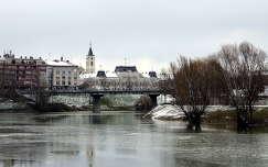 tél baja folyó híd magyarország
