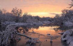 Téli naplemente