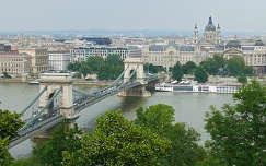 A Lánc-híd a várból Budapest