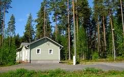 Finnország, faház, erdő