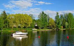 Finnország, folyó, csónak