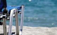 nyár, tengerpart, strand, napozóágy
