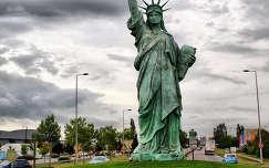 a Szabadság-szobor másolata Colmarban,Franciaország