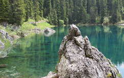 Karer tó a Dolomitokban,Olaszország