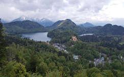 hohenschwangau várak és kastélyok alpok tó németország hegy