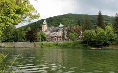 Magyarország, Lillafüred, Hotel Palota a Hámoró-tó felől