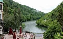 Magyarország, Lillafüred, Hámori-tó a Hotel Palotából