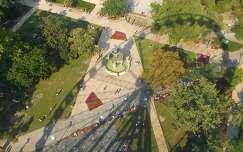 Budapest, Erzsébet tér, kilátás az Óriáskerékből