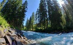 Ausztria, Krimml vízesésnél