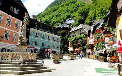 Hallstatt- főtér- Alpok, Ausztria.