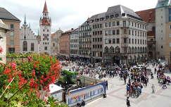 München,Kilátás a Városháza erkélyéről,Németország